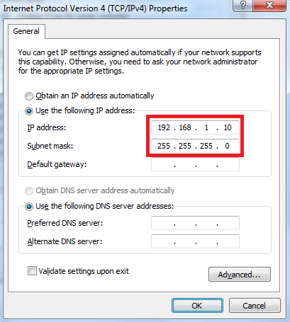 put ip address and connect two computer
