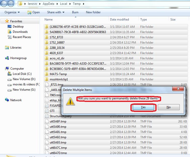 temporary files