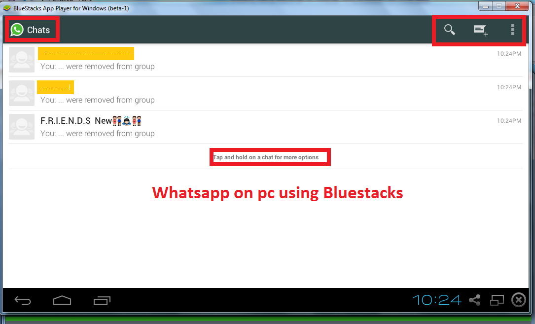 watsapp installed on pc