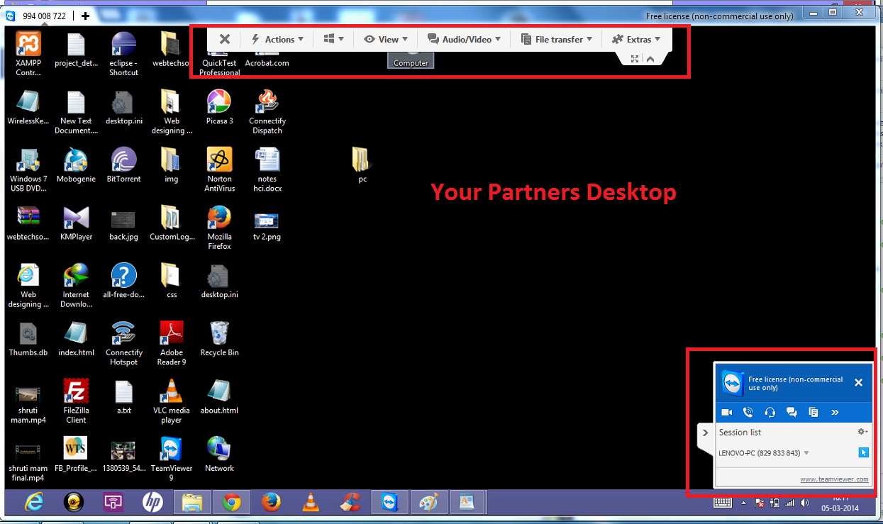 Partners desktop