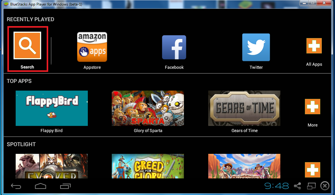 home screen bluestacks