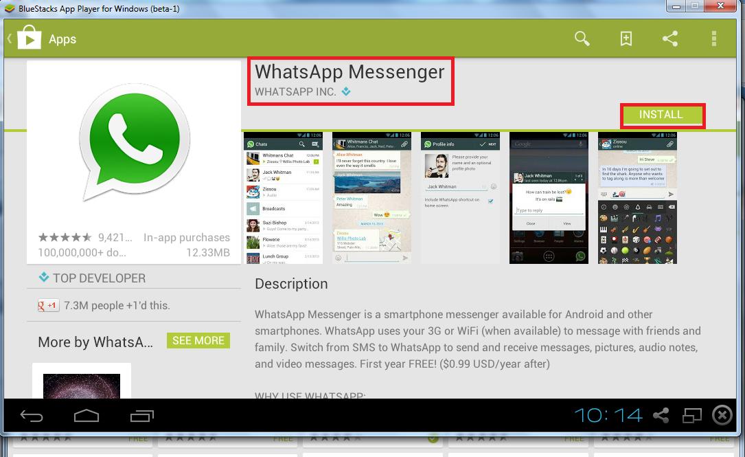 watsapp install