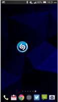 Shazam widget for android
