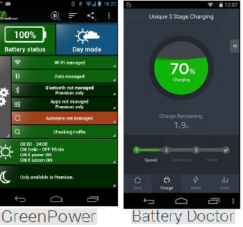 green power & battery doctor - smartphone tips