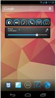 slider volume widget for android