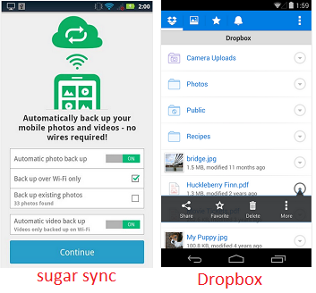 sugar sinc and drop box - smartphone tips