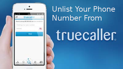 Remove number from Truecaller